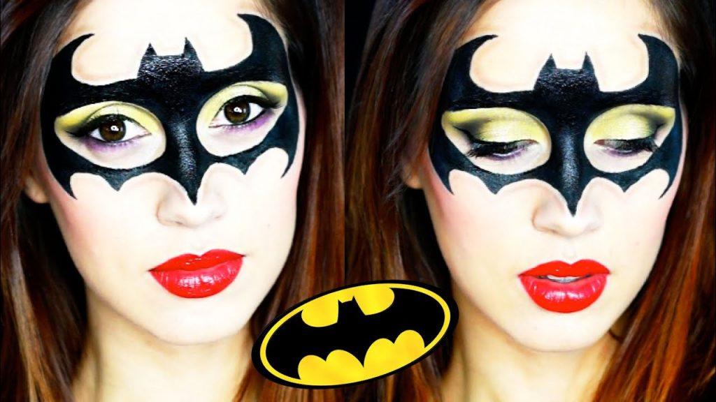 maquillaje de batgirl para mujer
