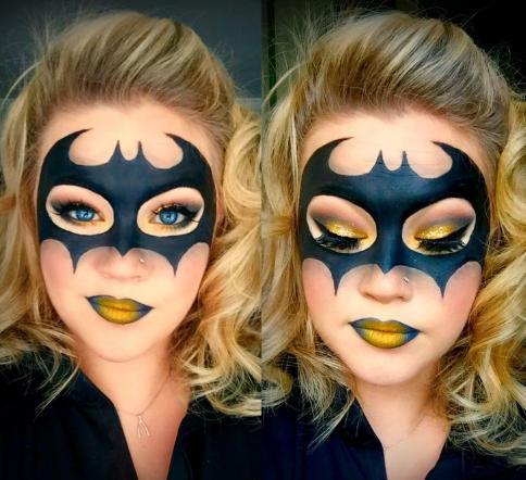 maquillaje de batman para mujer