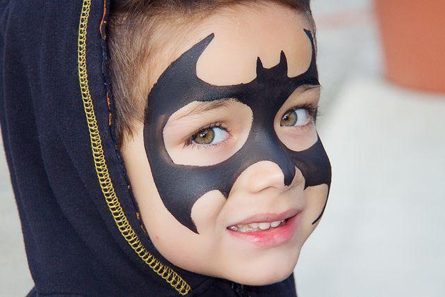 maquillaje de batman para niño
