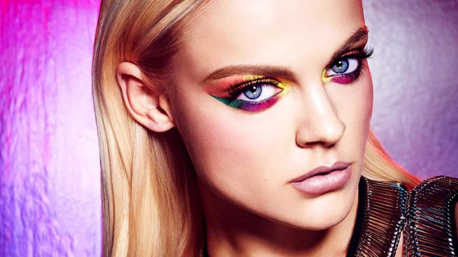 maquillaje de color pastel