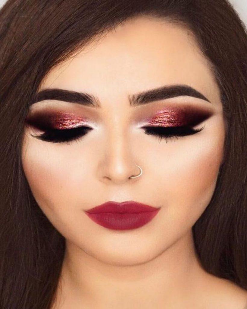 método 2 maquillaje navideño sencillo