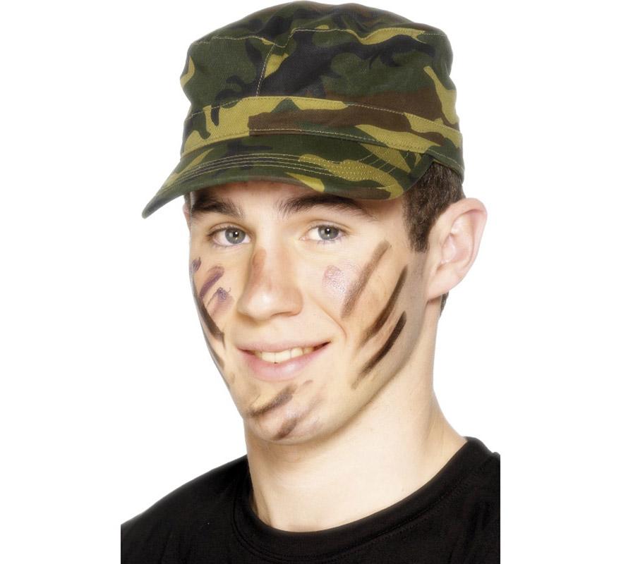 maquillaje militar para niño