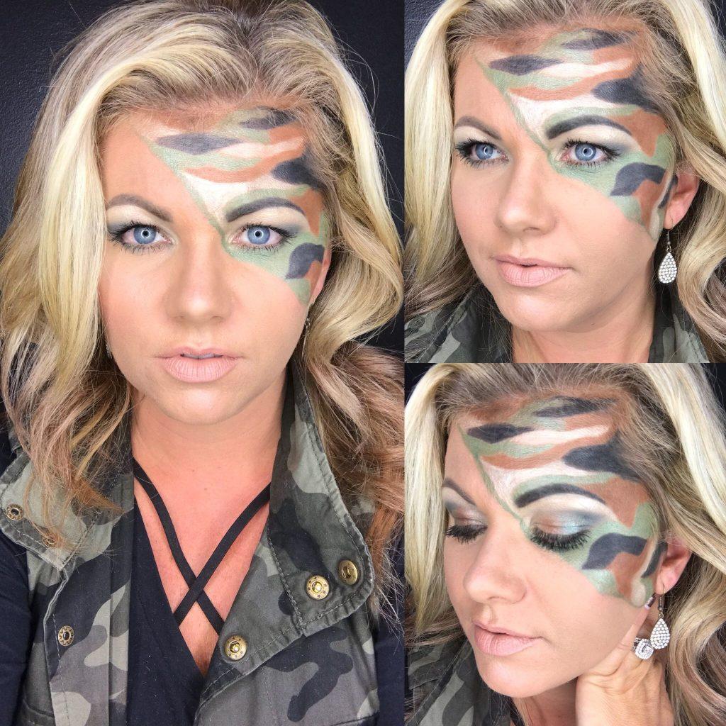 presentacion de maquillaje militar