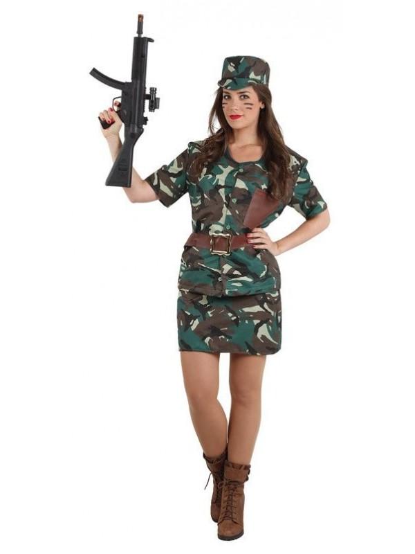 maquillaje militar para chica