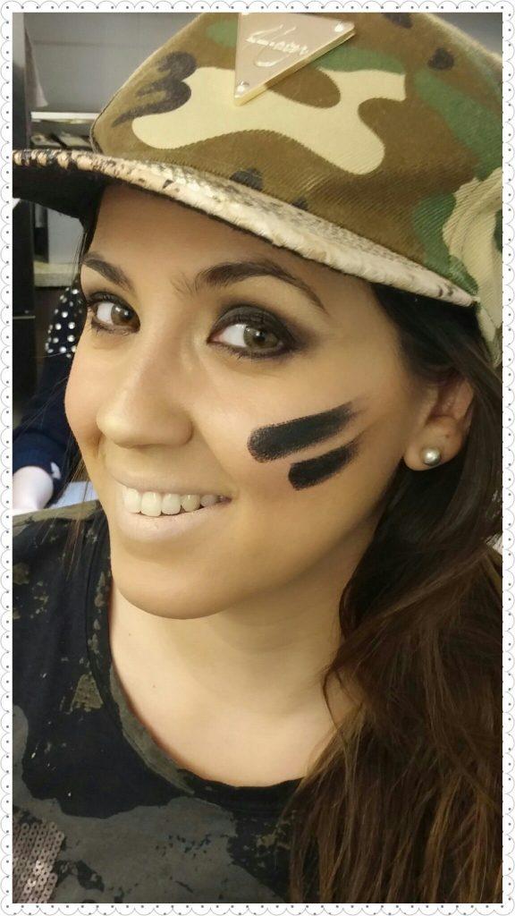 maquillaje militar para mejillas