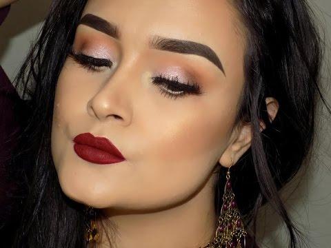 maquillaje navideño rápido y sencillo