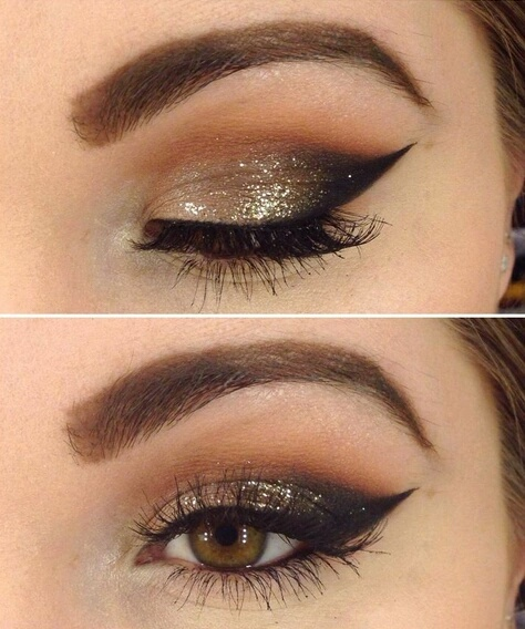maquillaje para ojos sencillo en fin de año