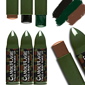 maquillaje militar amakando
