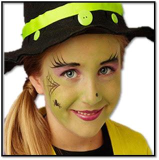 extra maquillaje de bruja niña