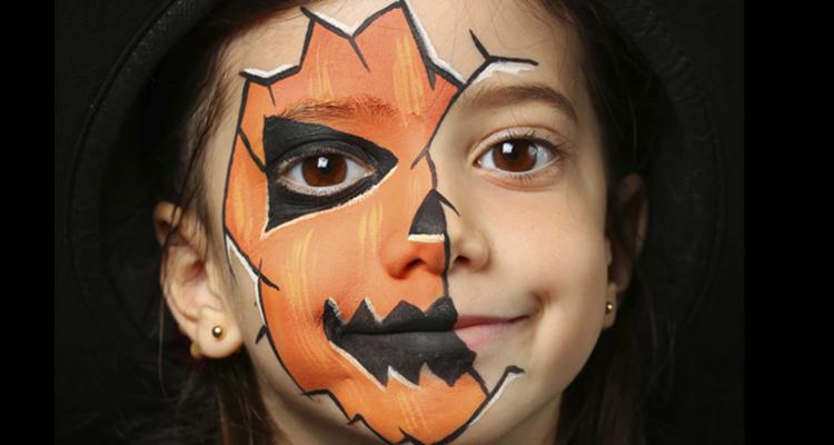 maquillaje de calabaza para niño
