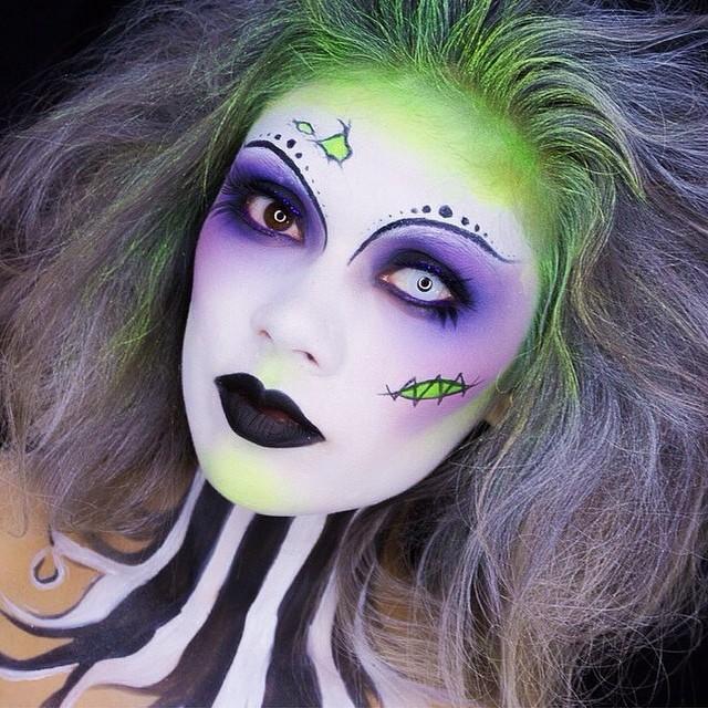 maquillaje colorido para halloween