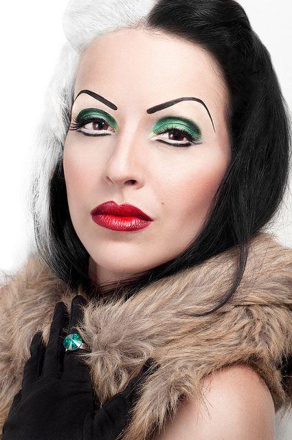 maquillaje de cruella de vill perfecto