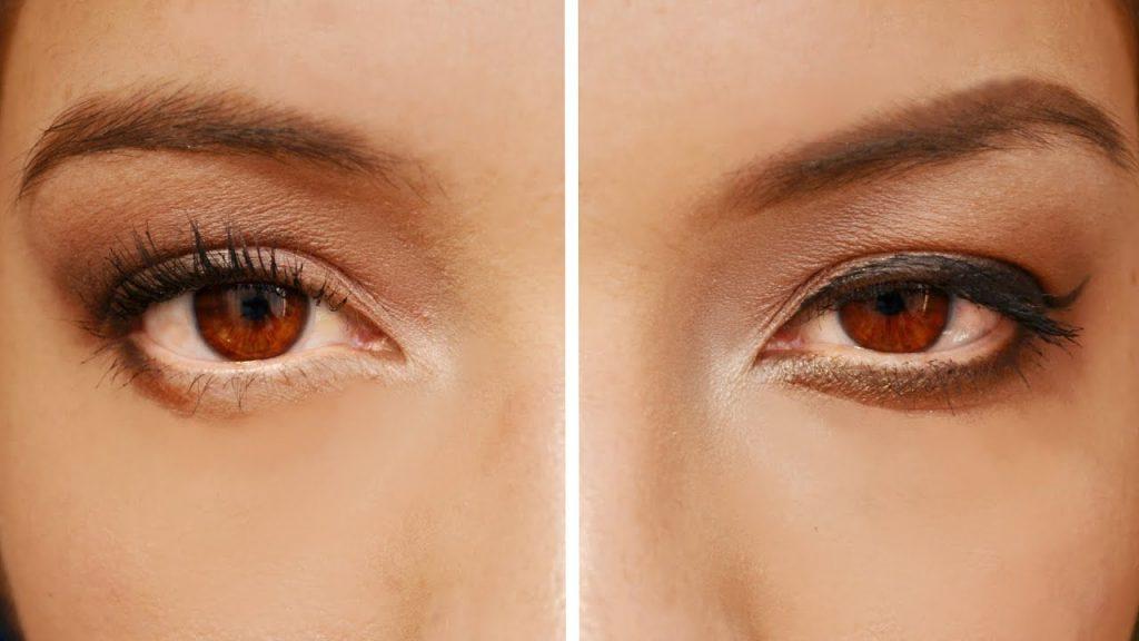maquillaje para ojos caidos piel oscura
