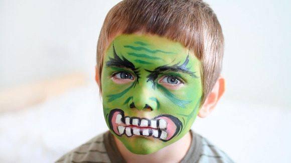 maquillaje de halloween para niños - hulk