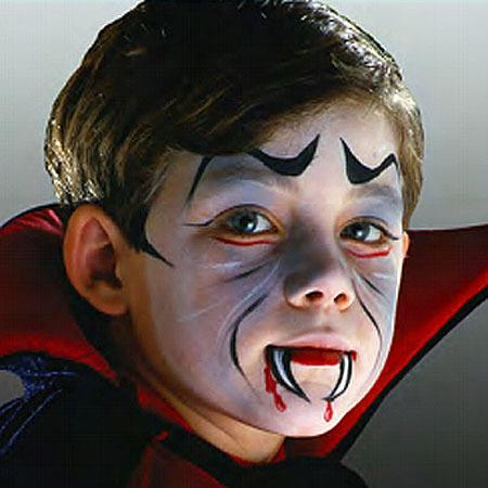 maquillaje niño vampiro para halloween