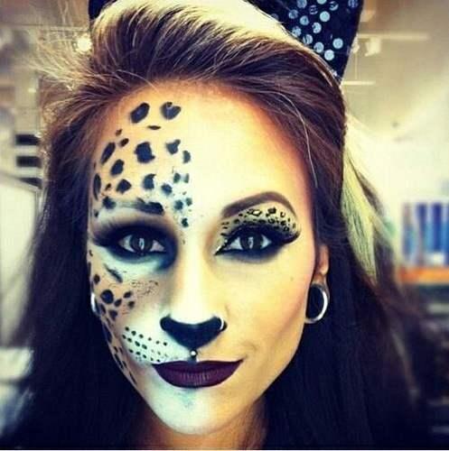 maquillaje perfecto de leopardo para halloween