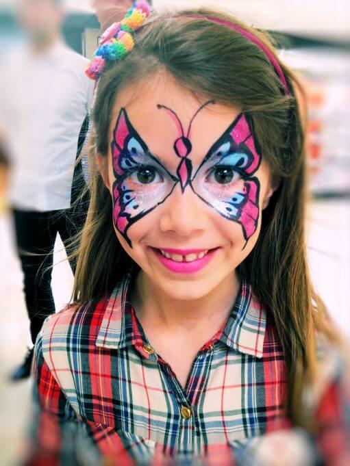 maquillaje de mariposa para niña perfecto