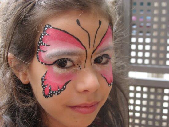 maquillaje de mariposa sencillo