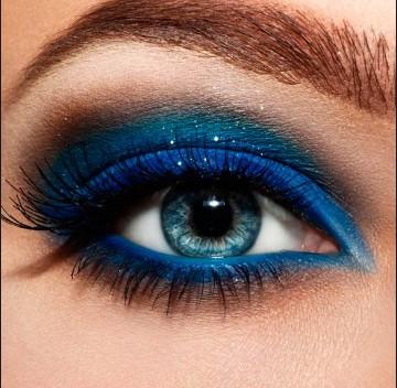 maquillaje de noche para ojos azules