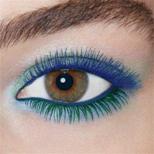 maquillaje para ojos marrónes colorido