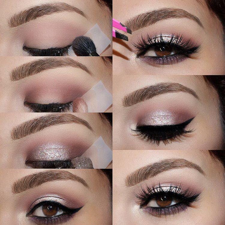 maquillaje de ojos rosa gold