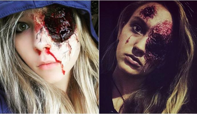 maquillaje sin ojo para halloween paso a paso