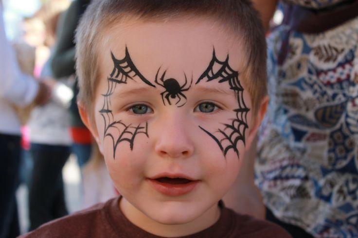 maquillaje de telarañas para niños