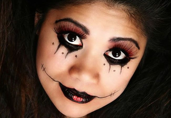 maquillaje de vampiresa para niña