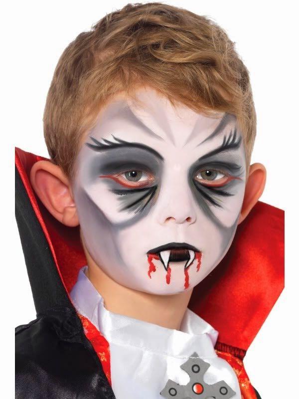 maquillaje de niño vampiro