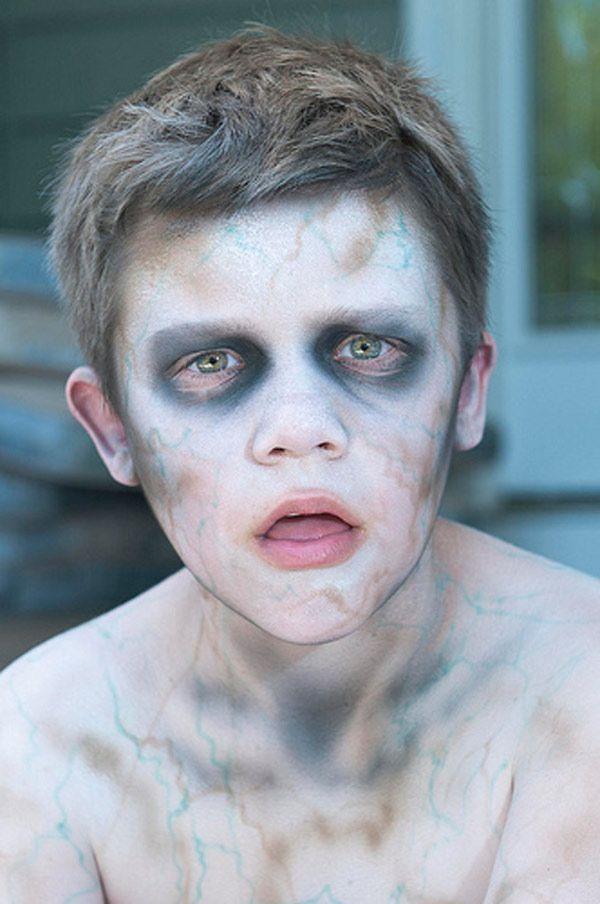 maquillaje de zombie sin sangre para niño