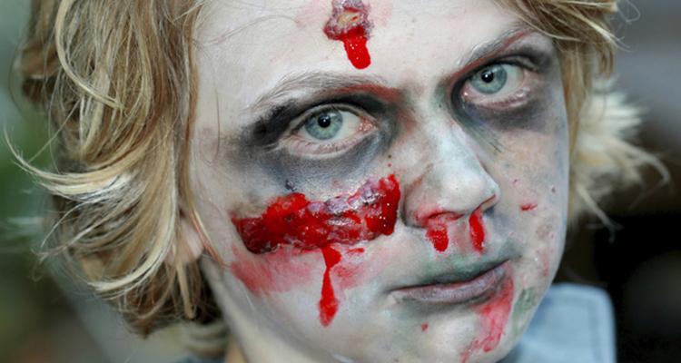 maquillaje de zombie para niño
