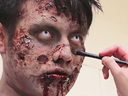 maquillaje de zombie para hombre