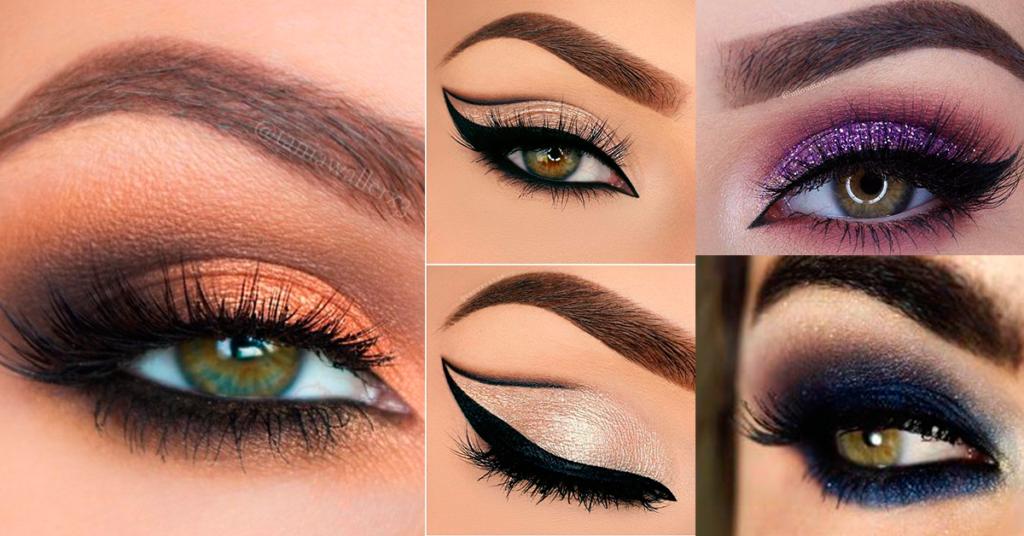 maquillaje con sombras de color intenso