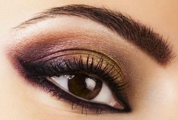maquillaje ojos color metal