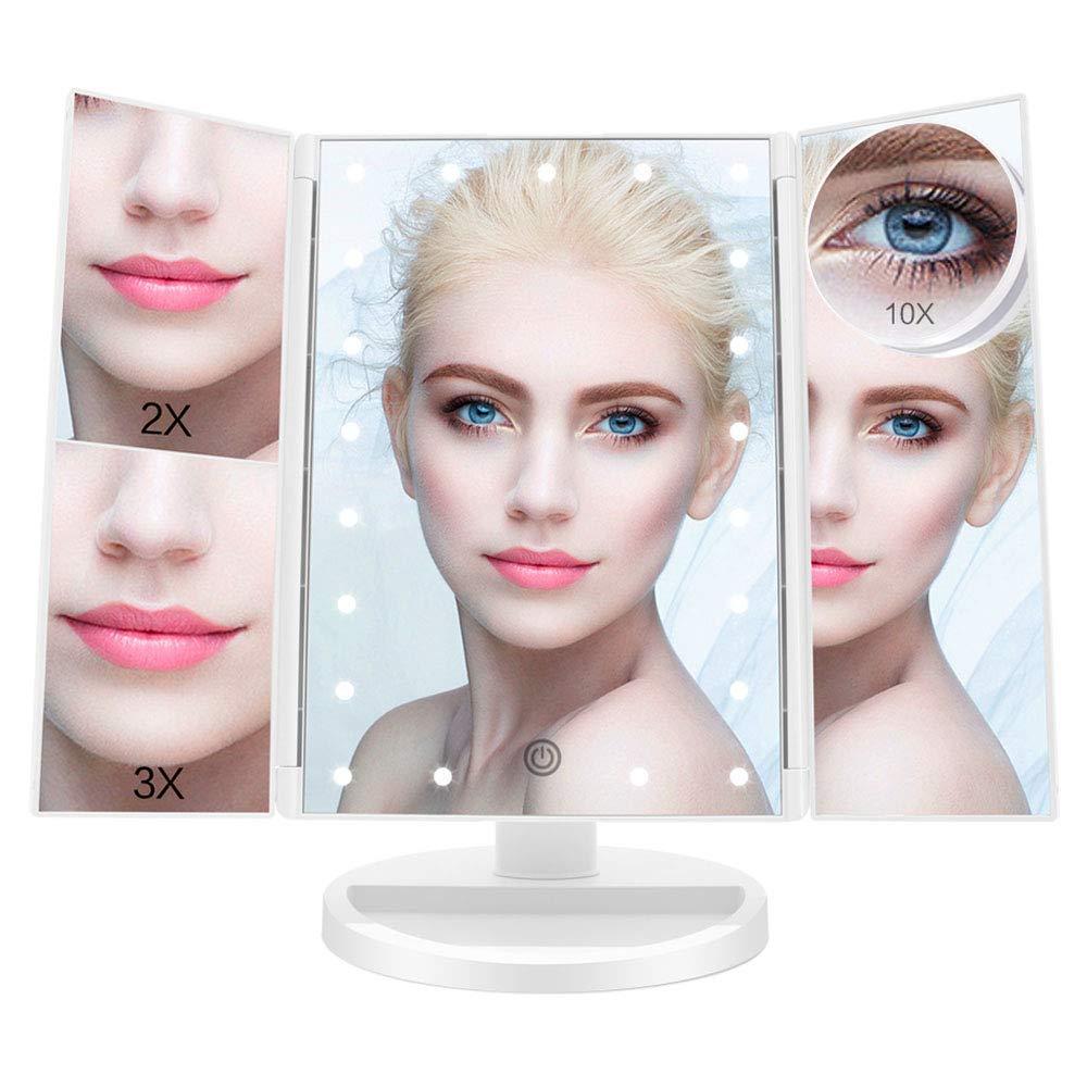 espejo con luz fascinate en amazon