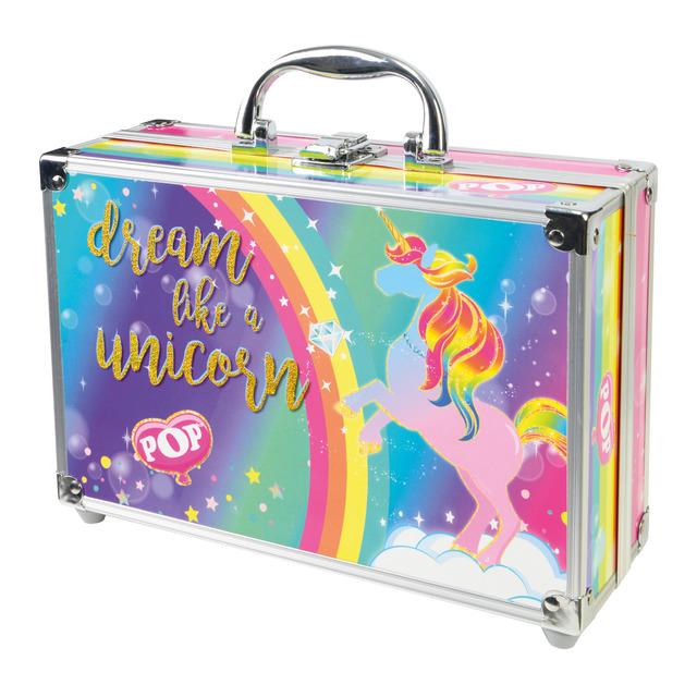maletín de maquillaje de unicornio para niña