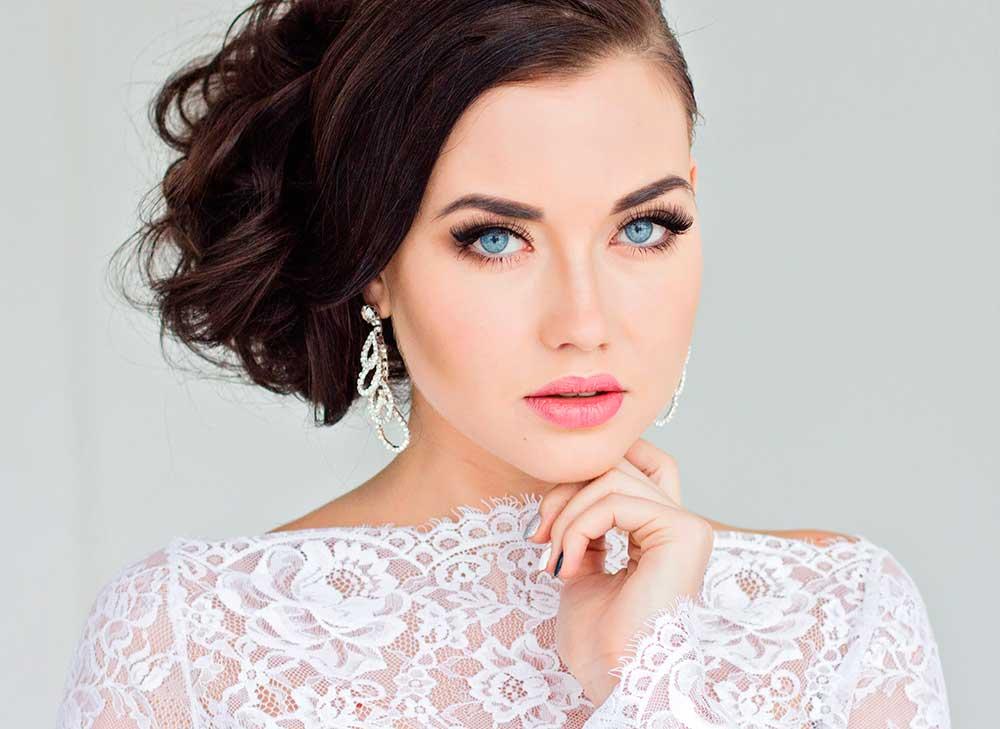 maquillaje de boda de noche para ojos azules