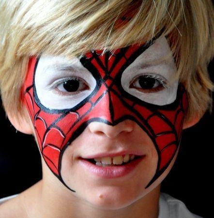 maquillaje carnaval infantil de spiderman