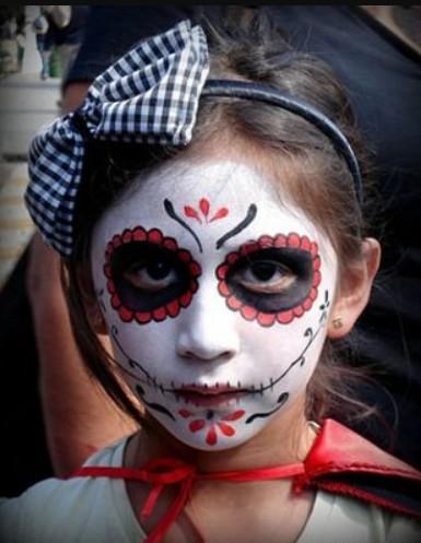 maquillaje catrina para niña