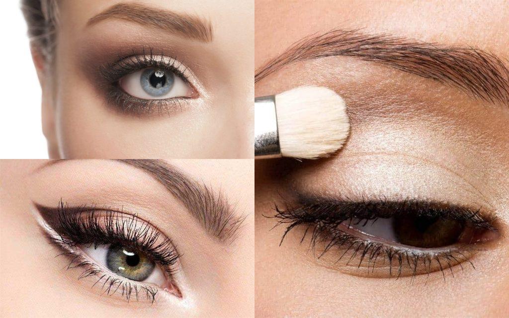 procedimiento para realizar maquillaje de ojos de dia natural