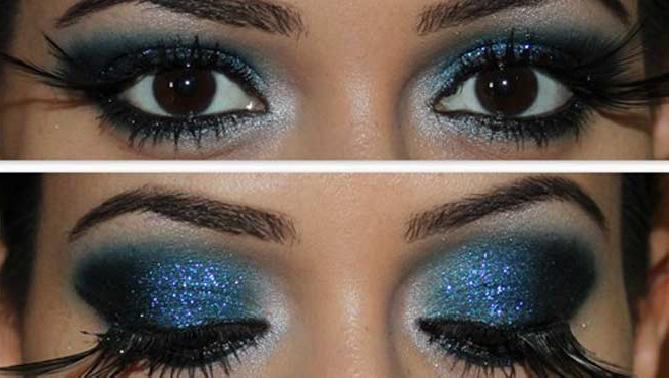maquillaje fantasía para ojos