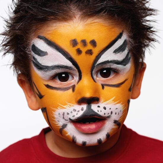 maquillaje fantasía tigre sencillo