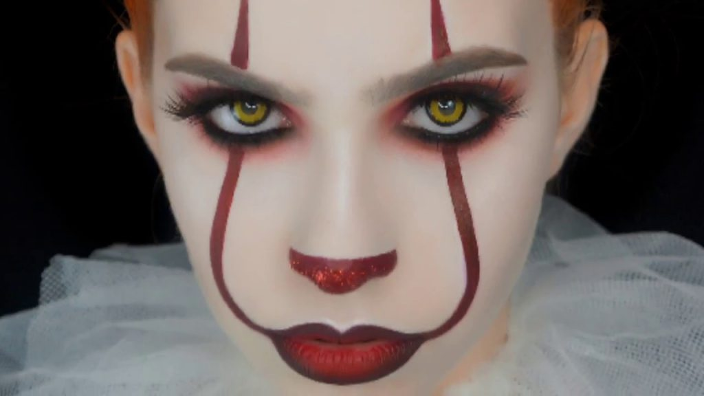 maquillaje de payaso it para mujer