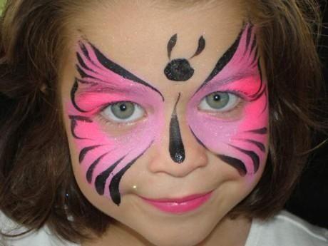 maquillaje de mariposa niña carnaval