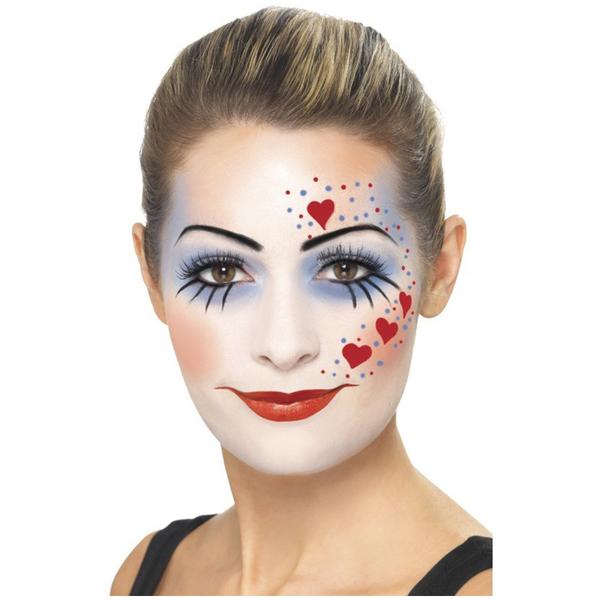 maquillaje de mujer payaso sencillo