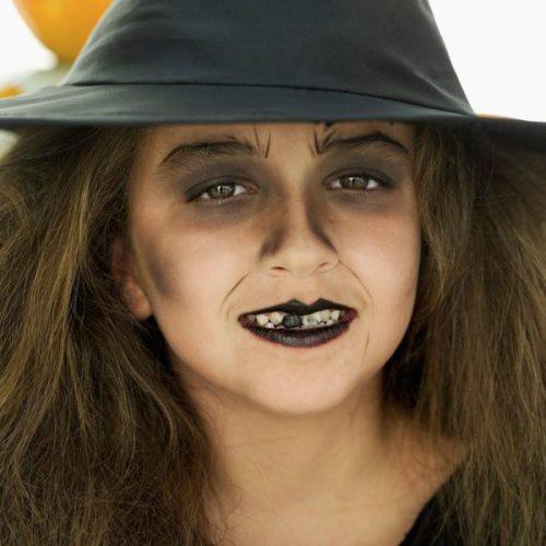 maquillaje bruja para niña realista