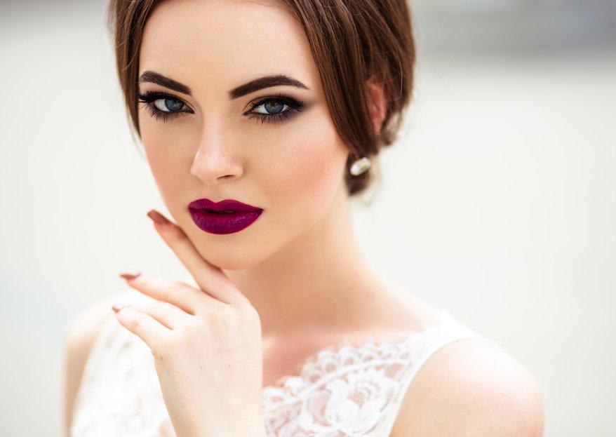 maquillaje de novia fuerte para noche