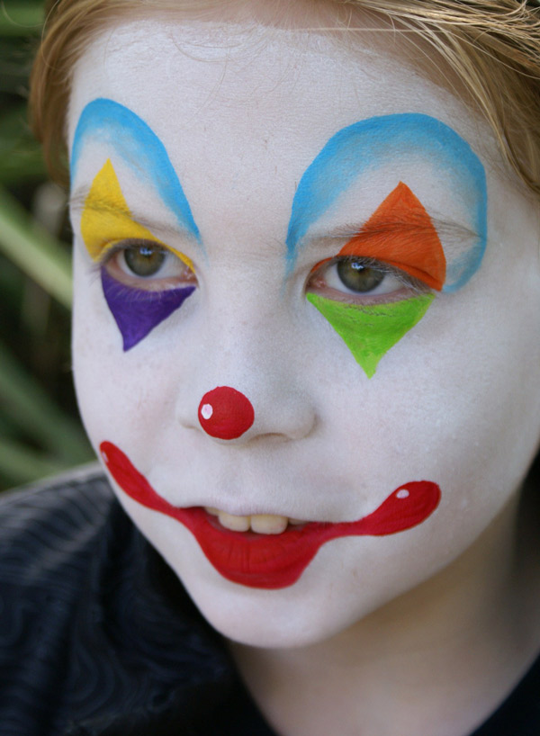 maquillaje de payaso sencillo cara blanca