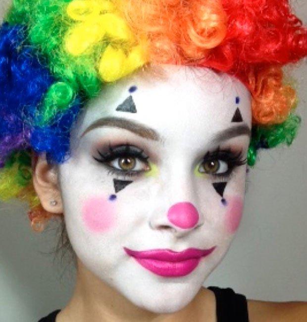 maquillaje de payaso para mujer sencillo