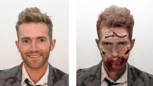 maquillaje de zombie casero para hombre